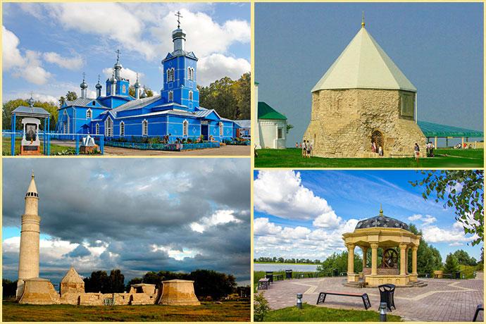 Церковь Авраамия Болгарского, Восточный мавзолей, Соборная мечеть и Источник Габдрахман сахабэ коесы