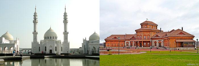 Белая мечеть и музей хлеба в Болгаре