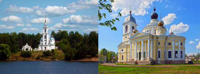 Храм Вознесения Господня и Собор Успения Пресвятой Богородицы г. Мышкин