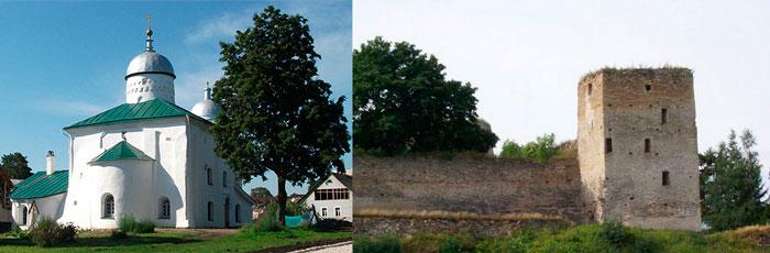 Никольский собор и Талавская башня Изборска