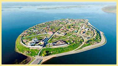 Свияжск остров город с высоты