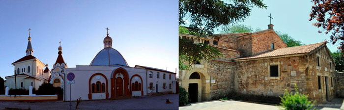 Храм Всех Святых и Армянская церковь Сурб Саркис и могила Айвазовского