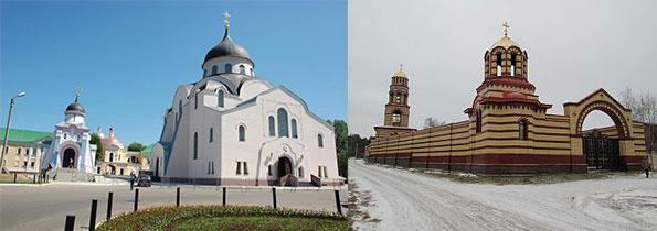 Христорождественский женский монастырь и Николаевский Малицкий мужской монастырь в Твери