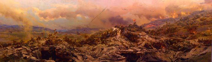 Диорама, посвященная штурму Сапун - горы в 1944 году
