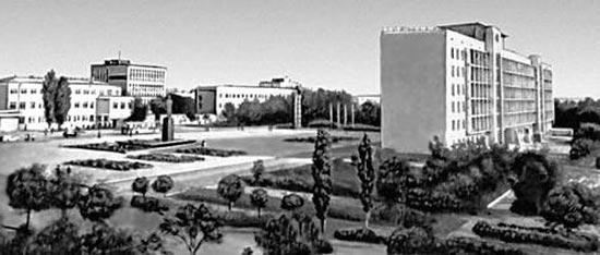 Город Элиста в 1965 году