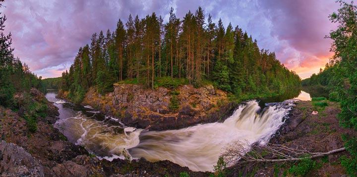 Легенда появления водопада Кивач