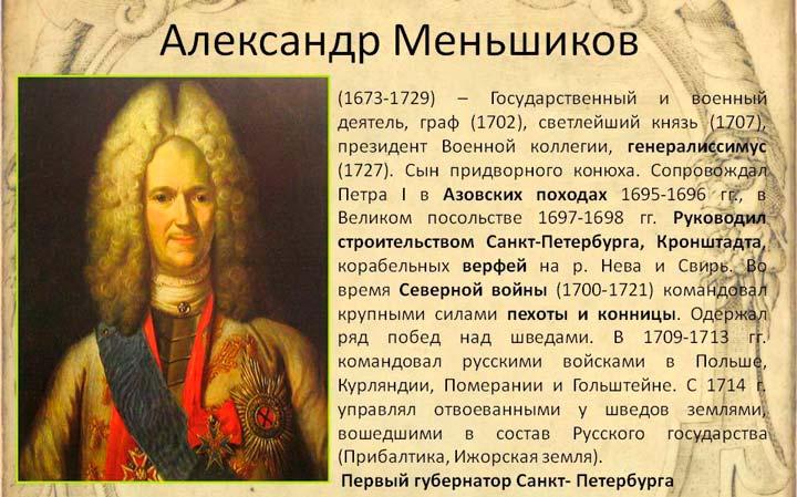 Князь Александр Меньшиков