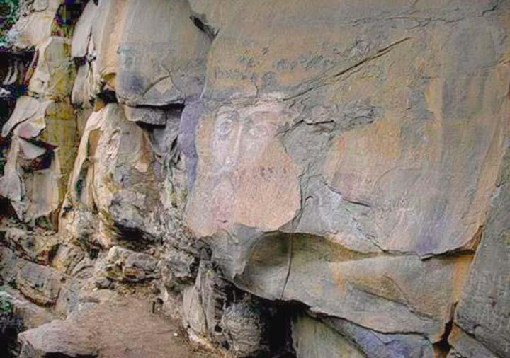 Лик Христа Спасителя на скалах в Архызе