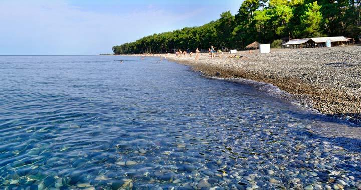 Пляж Пицунда в Сочи