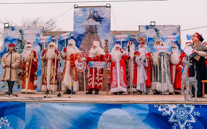 Фестиваль Дедов Морозов в Олонце
