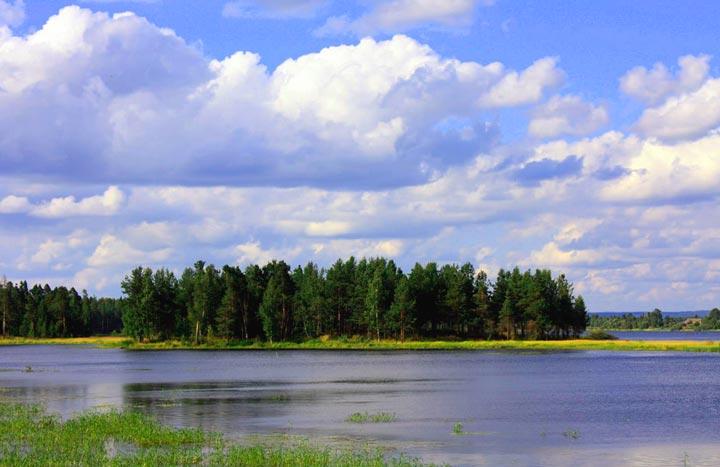 Озеро Сандал на Кондопоге