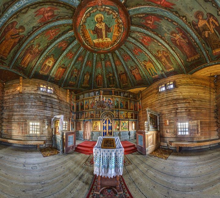 Успенский собор в Кондопоге изнутри