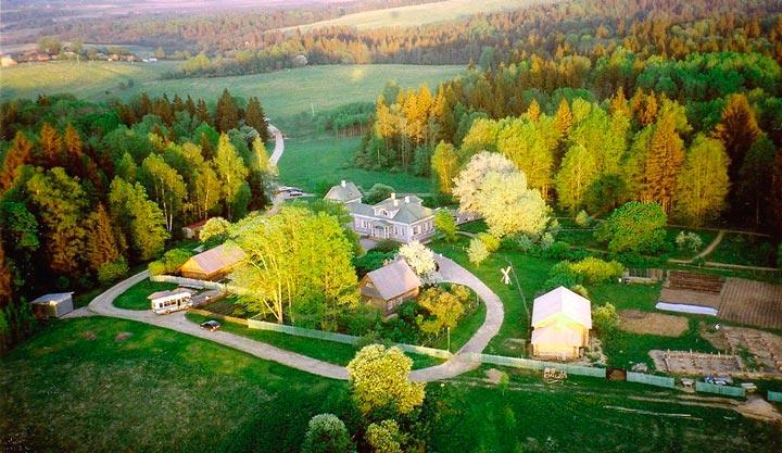 Вид на усадьбу Шахматово
