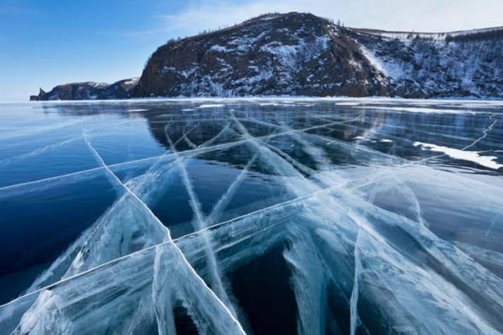 Зимнее озеро Байкал