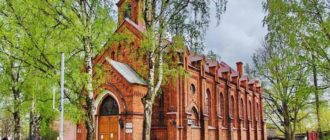 Костел в городе Луга