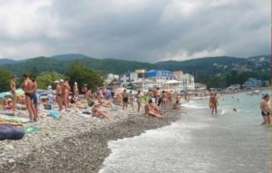 Пляж города Лазаревское