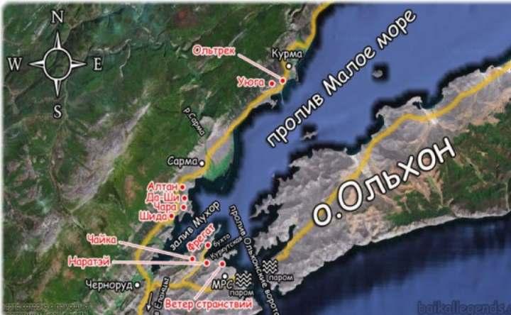 Карта пролива на Байклае