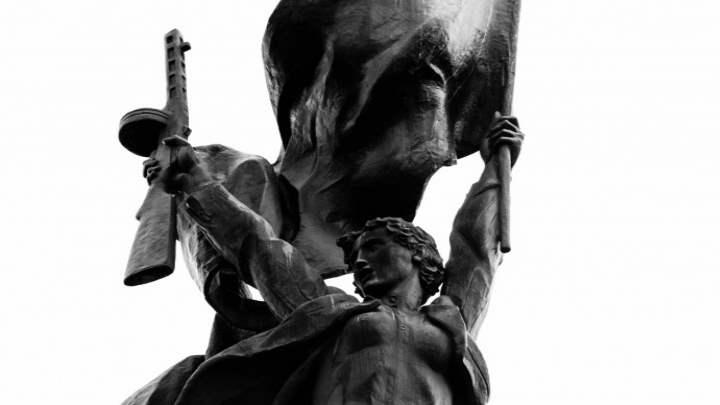 Памятник в городе Луга