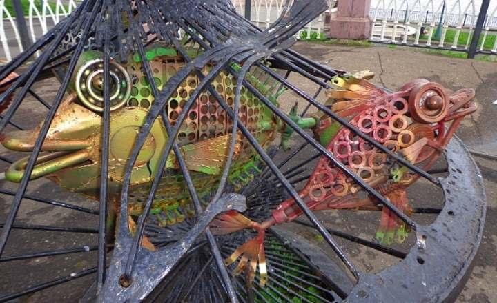 Кованное железо в центре Рыбинска