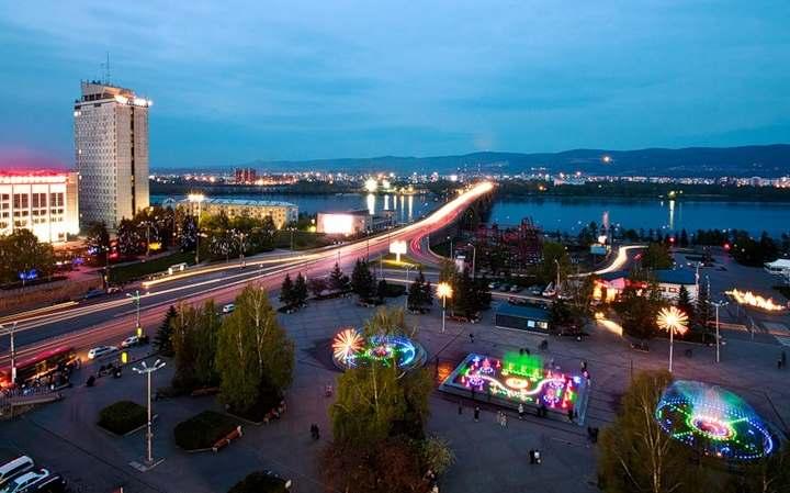Площадь в городе Красноярске