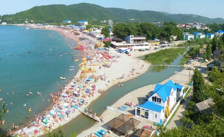 Пляжи Архипо Осиповки, фото и видео