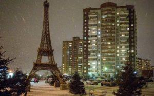 Ночь в городе Красноярске
