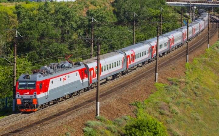 Поезд РЖД из Абхазии