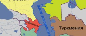 Карта Каспия
