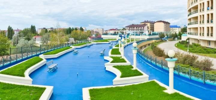 Дорожка-бассейн поселка Витязево