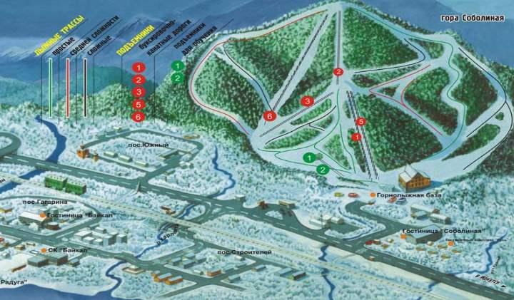 Схема трас байкальской горы