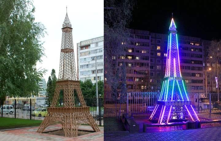 Башня находится на улице Курчатова