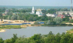 Город Бор располагается на левом берегу реки Волги