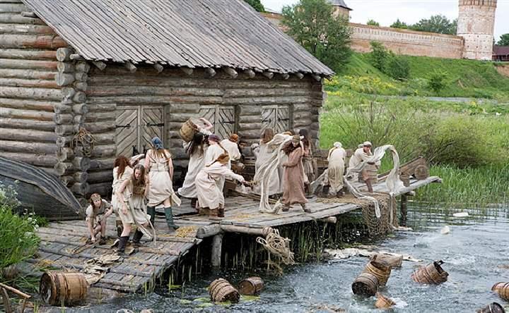 Музей представлен в виде старославянского поселения