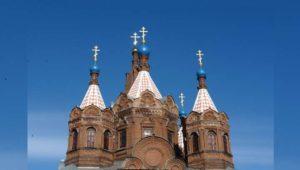 Башня церкви в городе Елец
