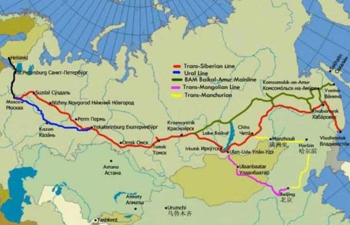 Карта РФ с ТСМ