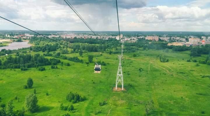 Вид из окон новгородской канатки