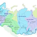 Карта России по округам
