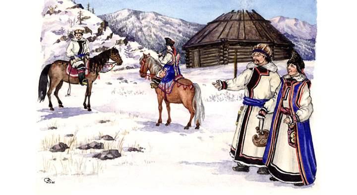 Женщины носят поверх халатов традиционные кардиганы