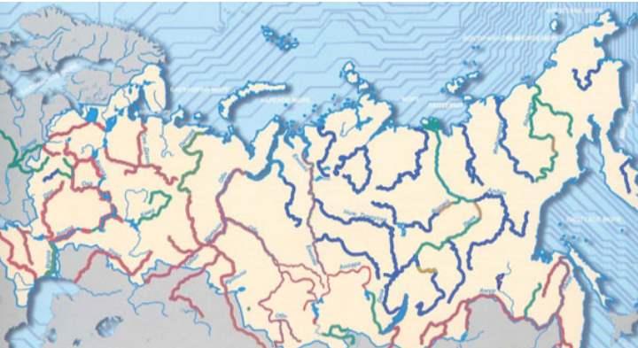 Карта рек РФ