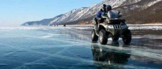 Лед на озере Байкал