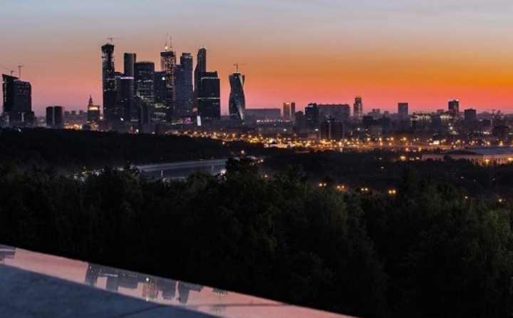 Москва сити с Воробьевых гор