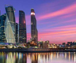 Красивый, современный деловой центр Москвы