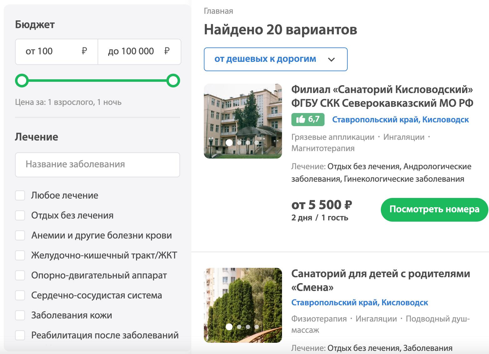 Лучшие санатории Кисловодска- Обзор 9 лучших +Ссылки с ценами