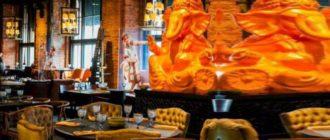 Очень красив интерьер ресторана